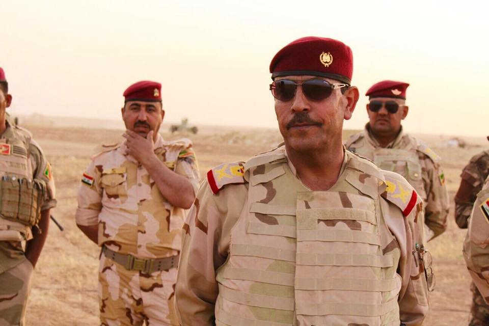قائد الفرقة السابعة يعلن تحرير منطقة الدولاب بالانبار ورفع العلم العراقي فوق مبانيها