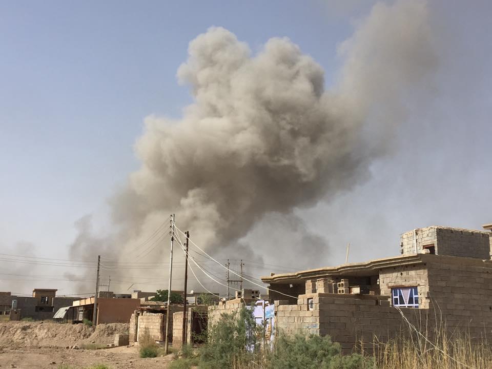 """عمليات الانبار تعلن مقتل خمسة """"إرهابيين"""" بقصف شمال الرمادي"""