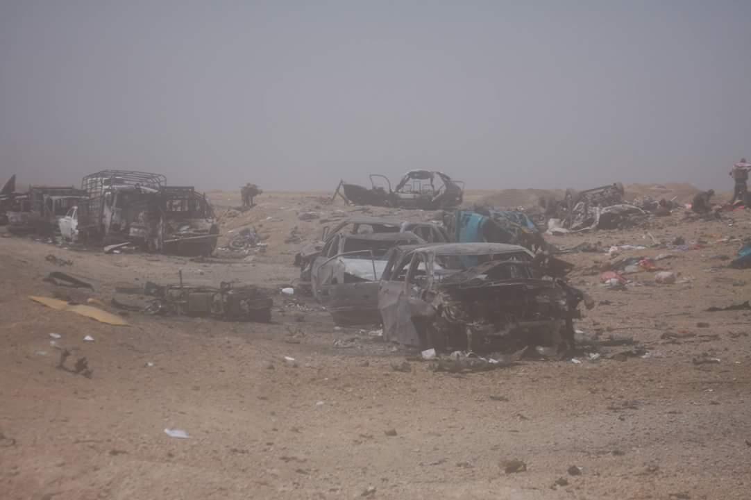 """هجوم لـ""""داعش"""" بـ10 مفخخات على مقر عسكري غربي الانبار"""