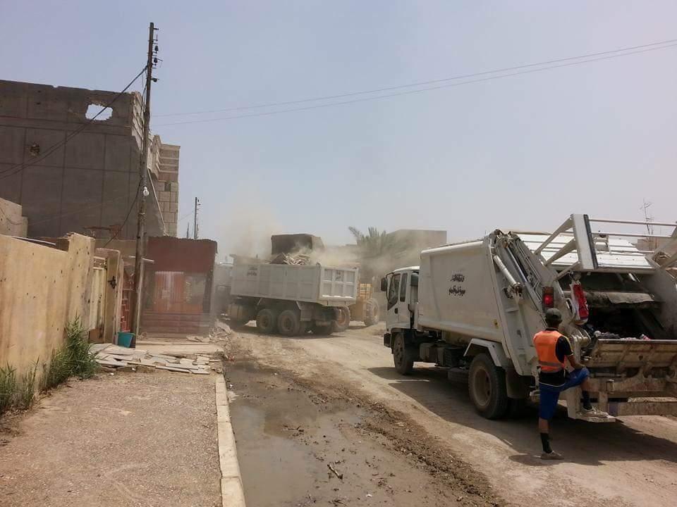 انطلاق حملة لتنظيف وإعادة تأهيل الخدمات في هيت