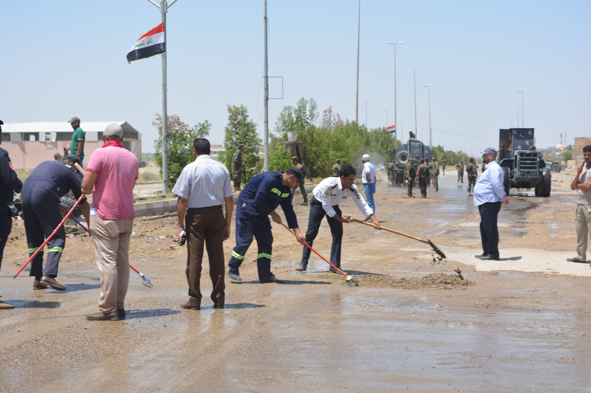 شاهد بالصور: حملة واسعة لتنظيف الفلوجة