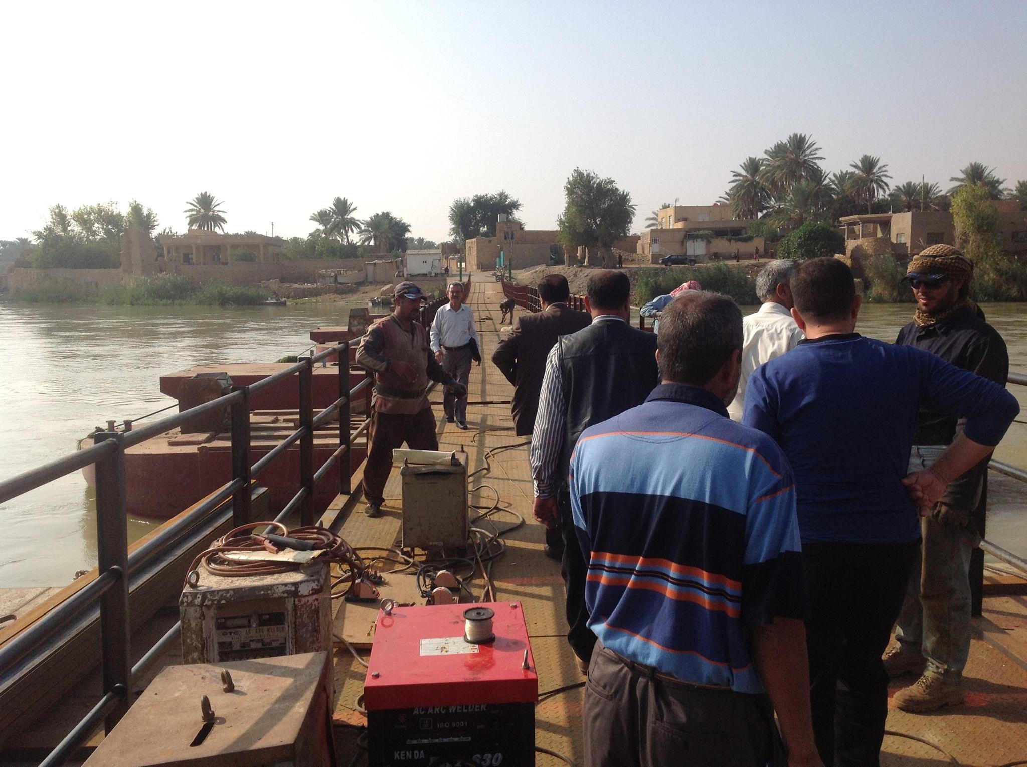 طرق وجسور الانبار تعلن الانتهاء من صيانة جسر بزيبز واعادة فتحه