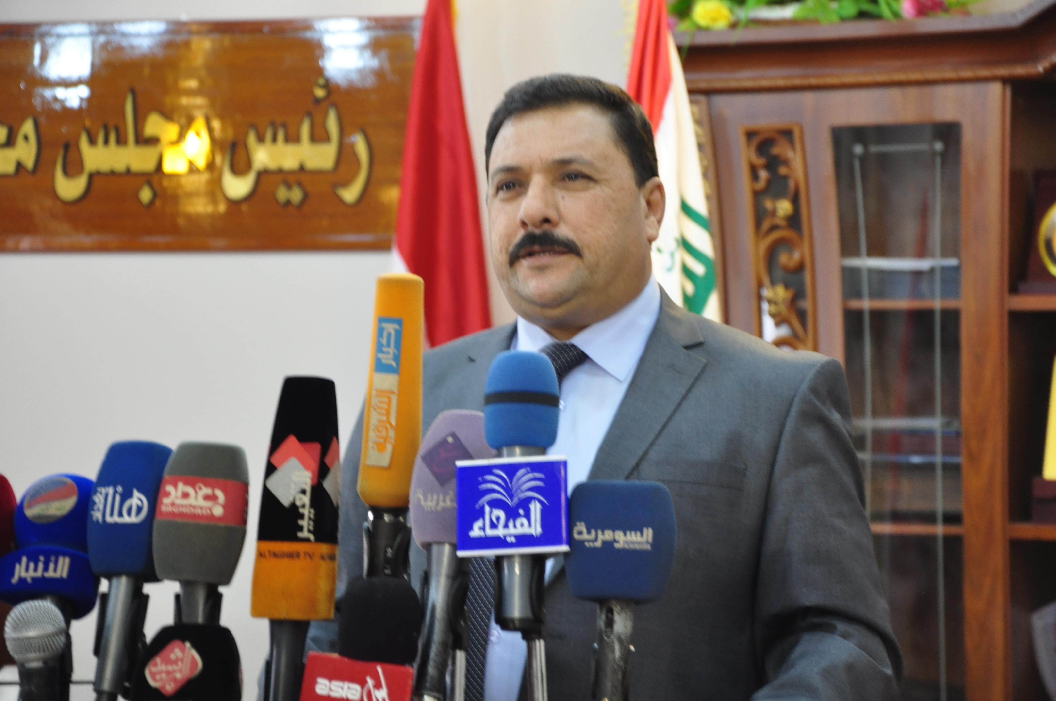 كرحوت يطالب الجبوري بدعم عودة الاستقرار لمدينة الانبار