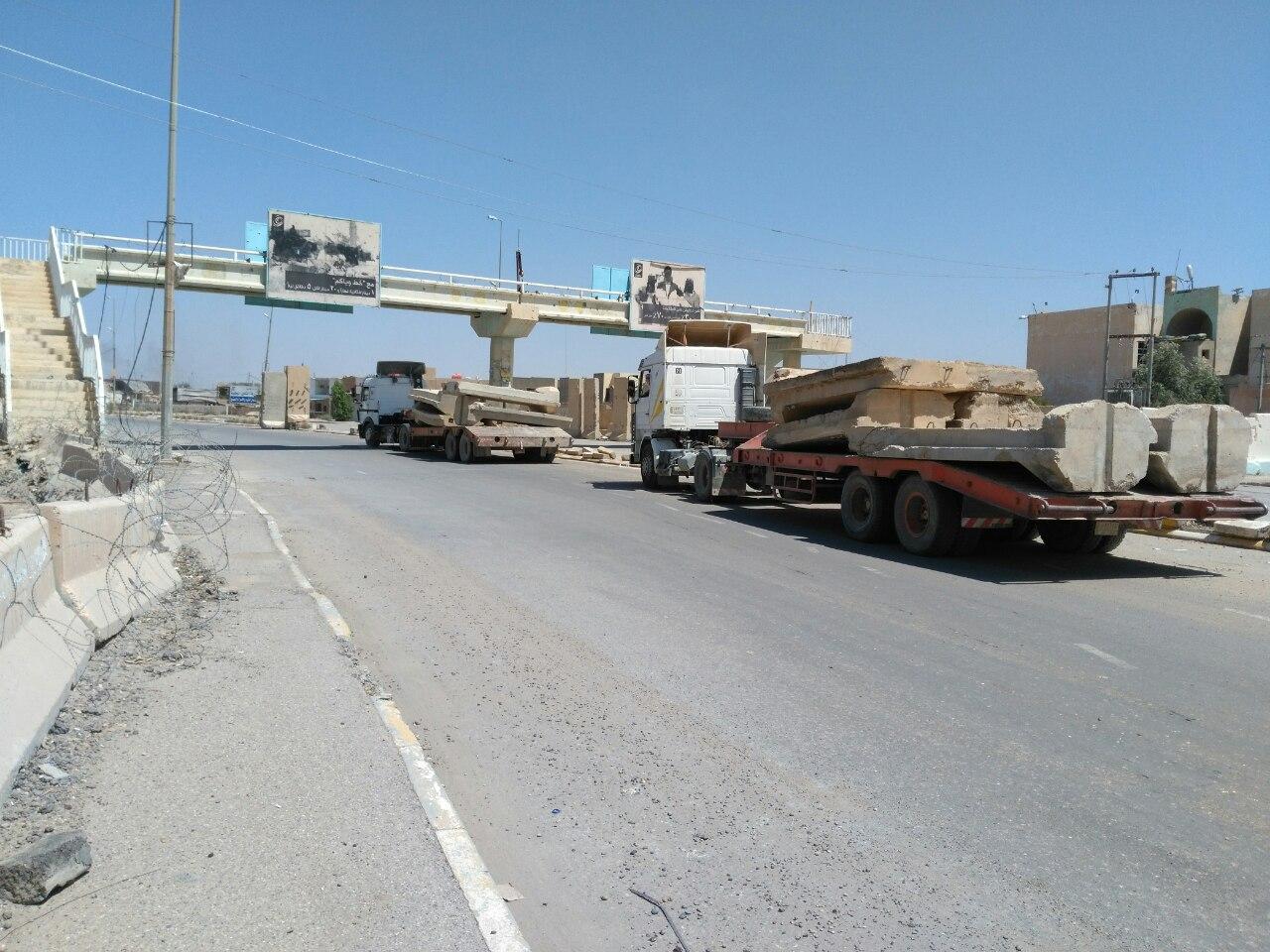 مسؤول محلي: باشرنا برفع 10 آلاف حاجز كونكريتي من شوارع الرمادي