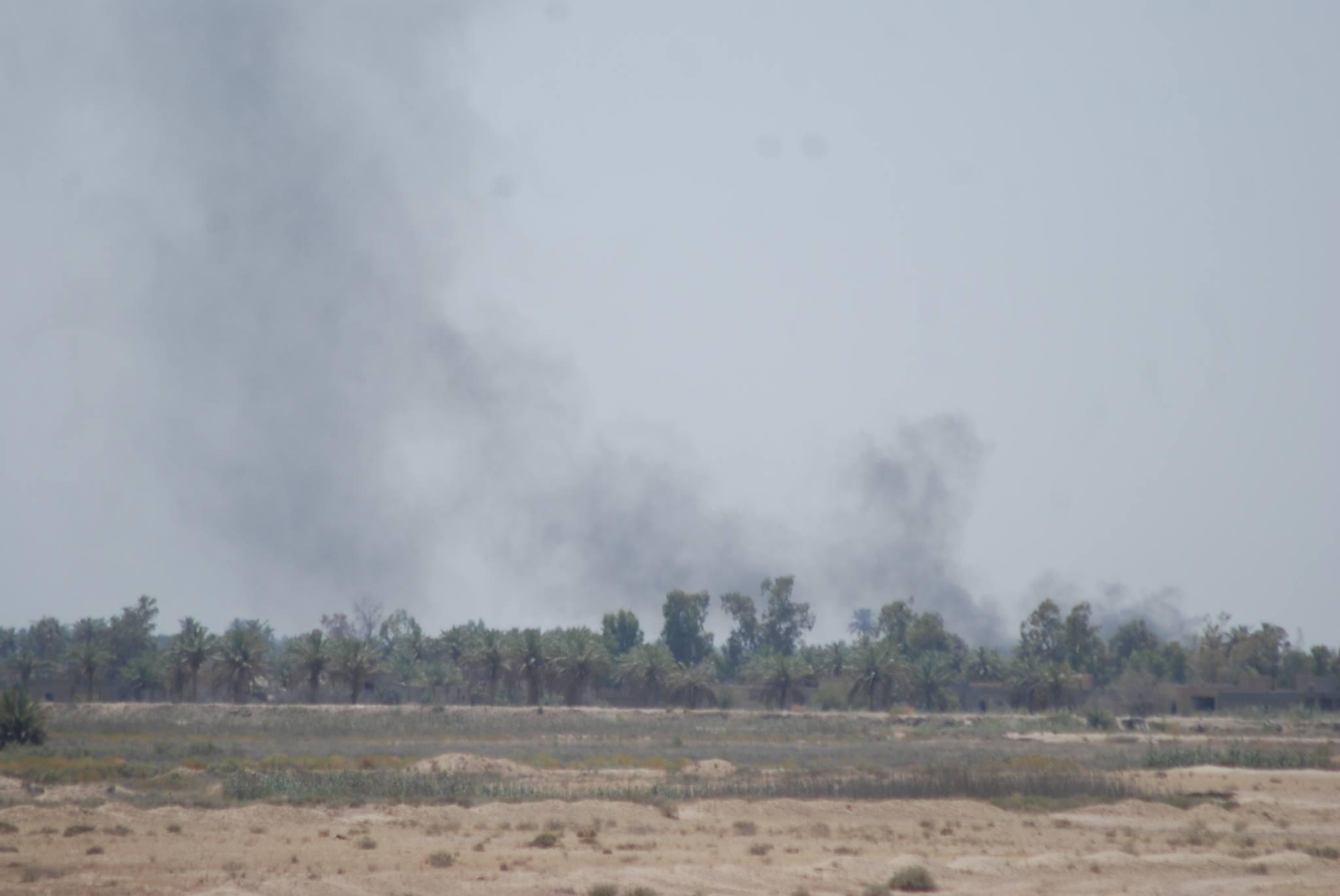 """عمليات الانبار تعلن تدمير ثمانية مقرات لـ""""داعش"""" بقصف جوي شمال الرمادي"""