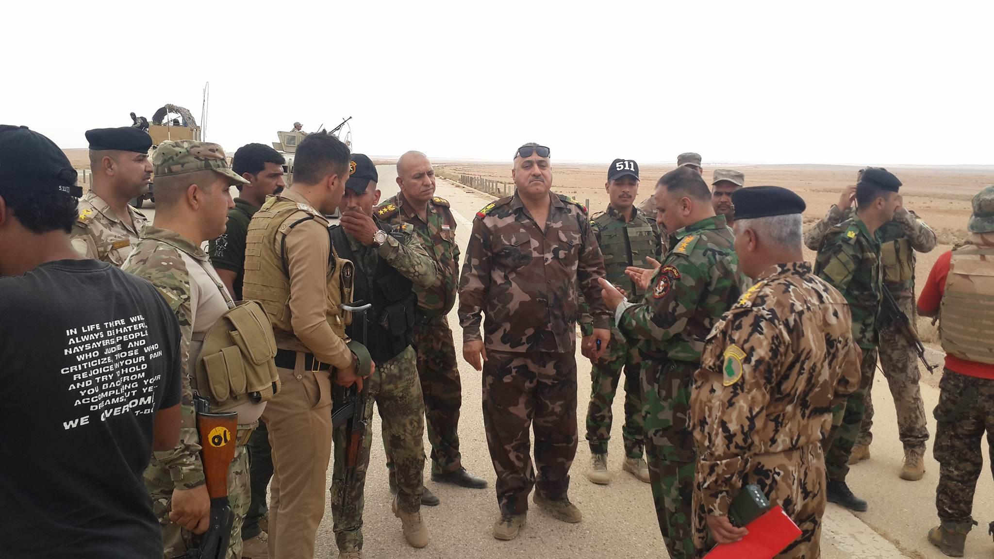 """قائد حرس الحدود في الأنبار يعلن احباط هجوم لـ""""داعش"""" غرب الرطبة"""