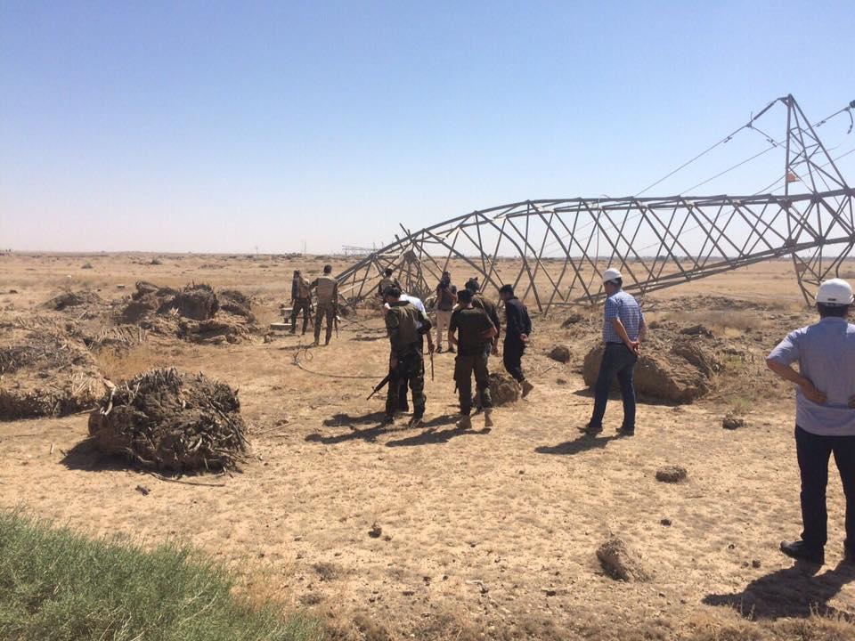 مسؤول محلي يعلن المباشرة بتأهيل الخط الناقل للكهرباء بين بغداد والرمادي
