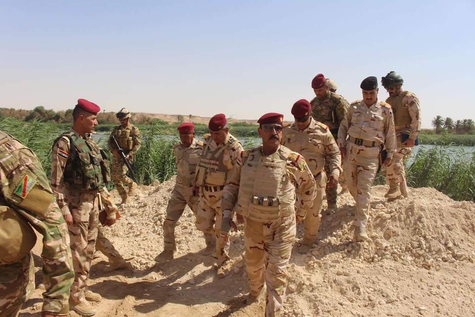 """الفرقة السابعة تعلن تحرير قرية """"المحبوبية"""" بجزيرة هيت ورفع العلم العراقي فوقها"""