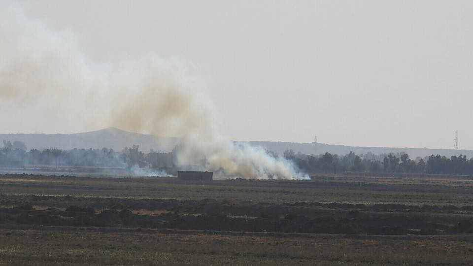"""تدمير عجلة مفخخة لـ""""داعش"""" في قاعدة سعد الجوية بالانبار"""