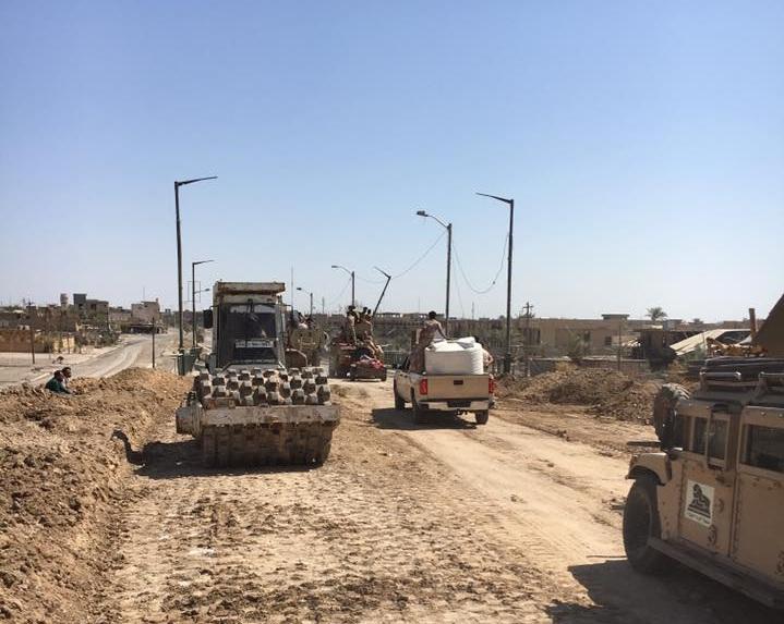 طرق وجسور الأنبار تفتتح جسر الفلوجة الجديد بعد انجاز العمل فيه