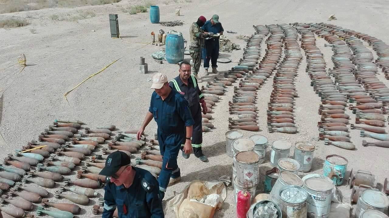 """معالجة 70 عبوة ناسفة وتدمير نفقين لـ""""داعش"""" في الانبار"""