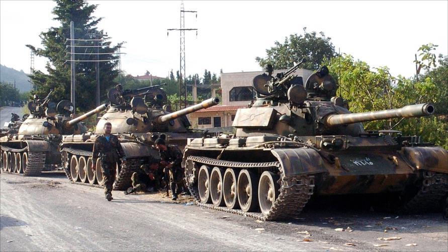 وصول اليات للجيش السوري النظامي الى مدينة عنه