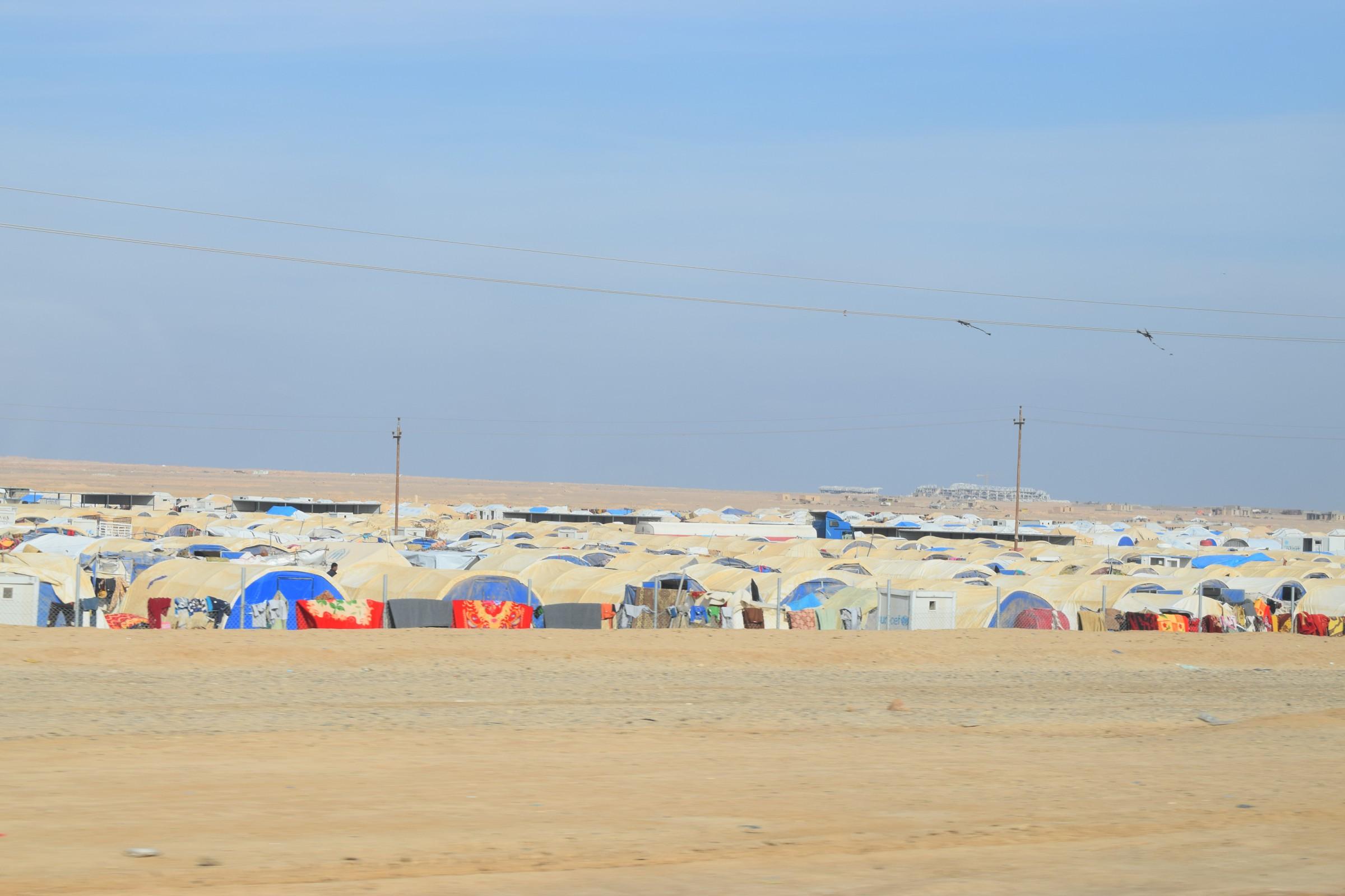 وصول عشرات الاسر النازحة من الموصل إلى الأنبار
