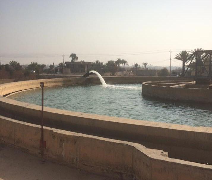 إنجاز 60% من مشروع إعادة تأهيل مجمع ماء الأزركية في الفلوجة