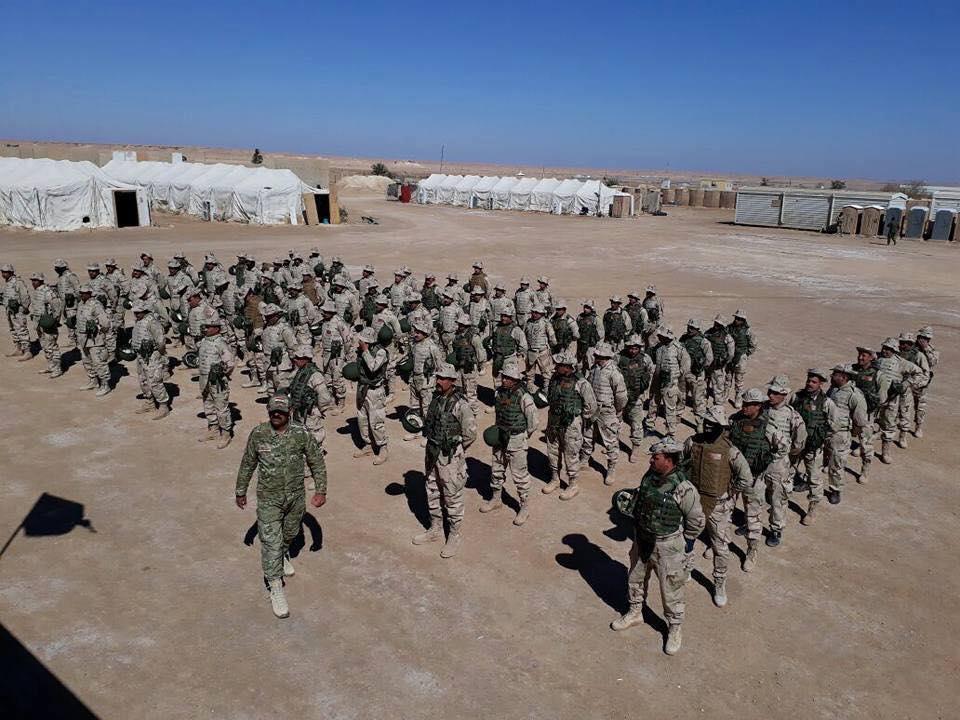 تخرج فوج من مقاتلي العشائر في قاعدة عين الأسد بالبغدادي