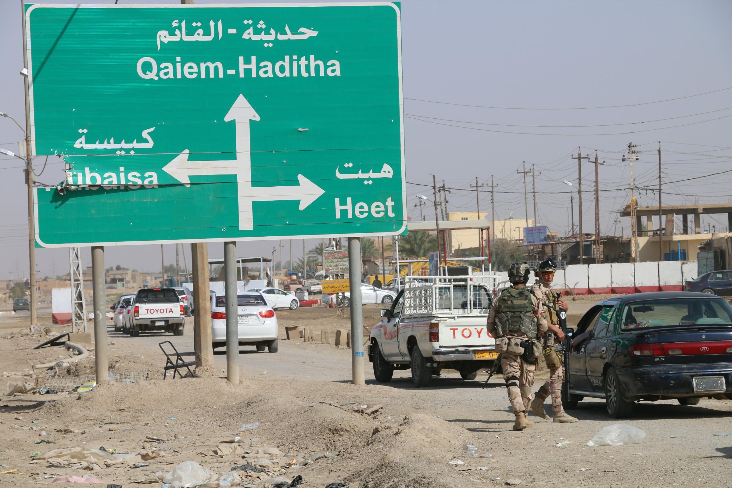 """مجلس هيت يعلن مقتل أربعة انتحاريين من """"داعش"""" حاولوا التسلل الى الدولاب"""