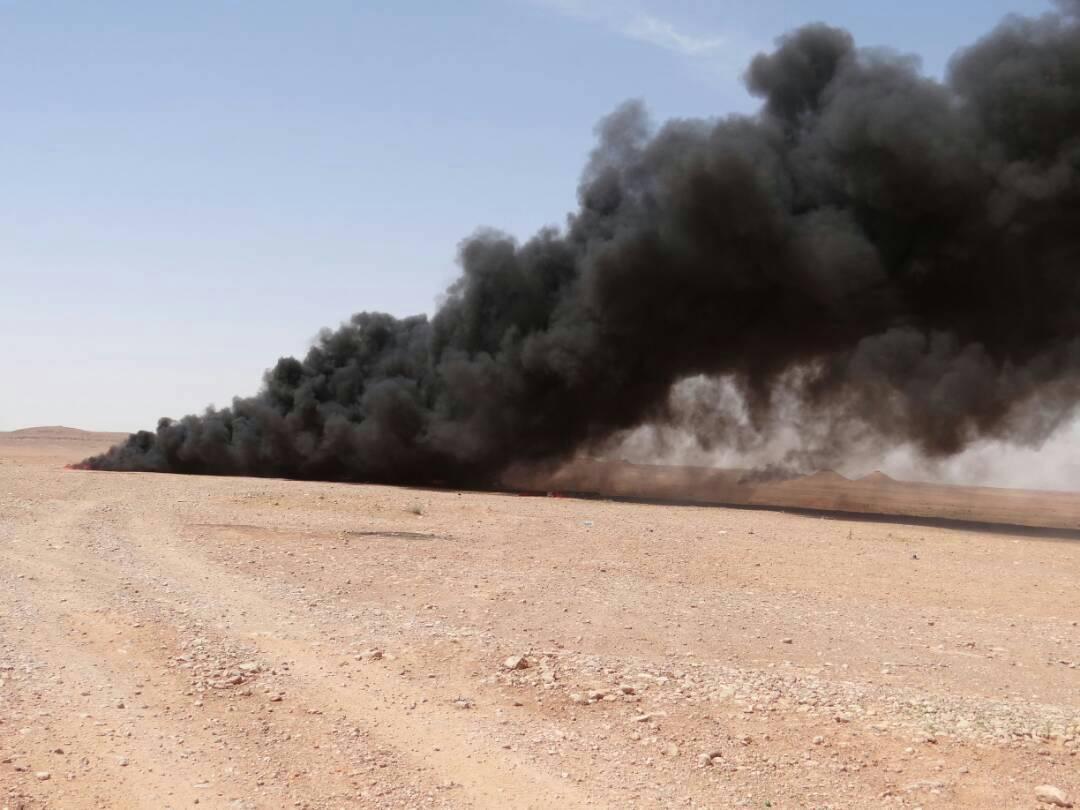 """عمليات الأنبار تعلن تدمير مقر لـ""""داعش"""" في الصحراء غربي المحافظة"""