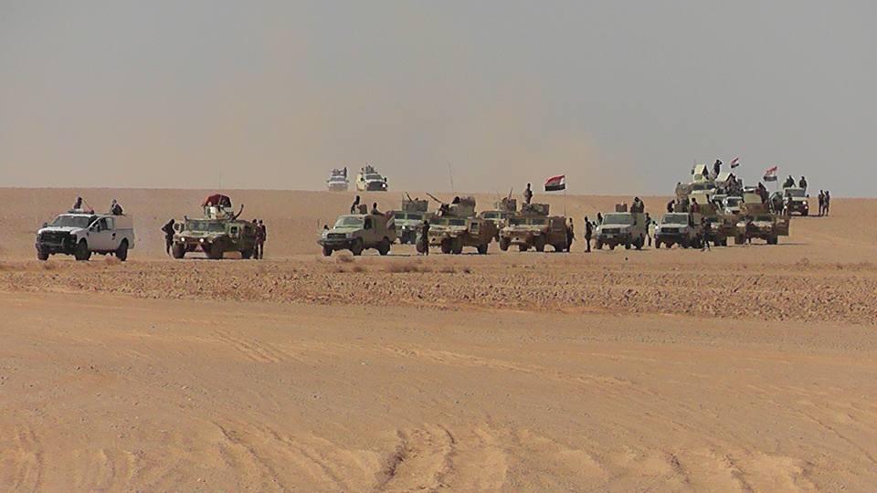 وصول تعزيزات عسكرية الى ناحية الوليد غربي الانبار
