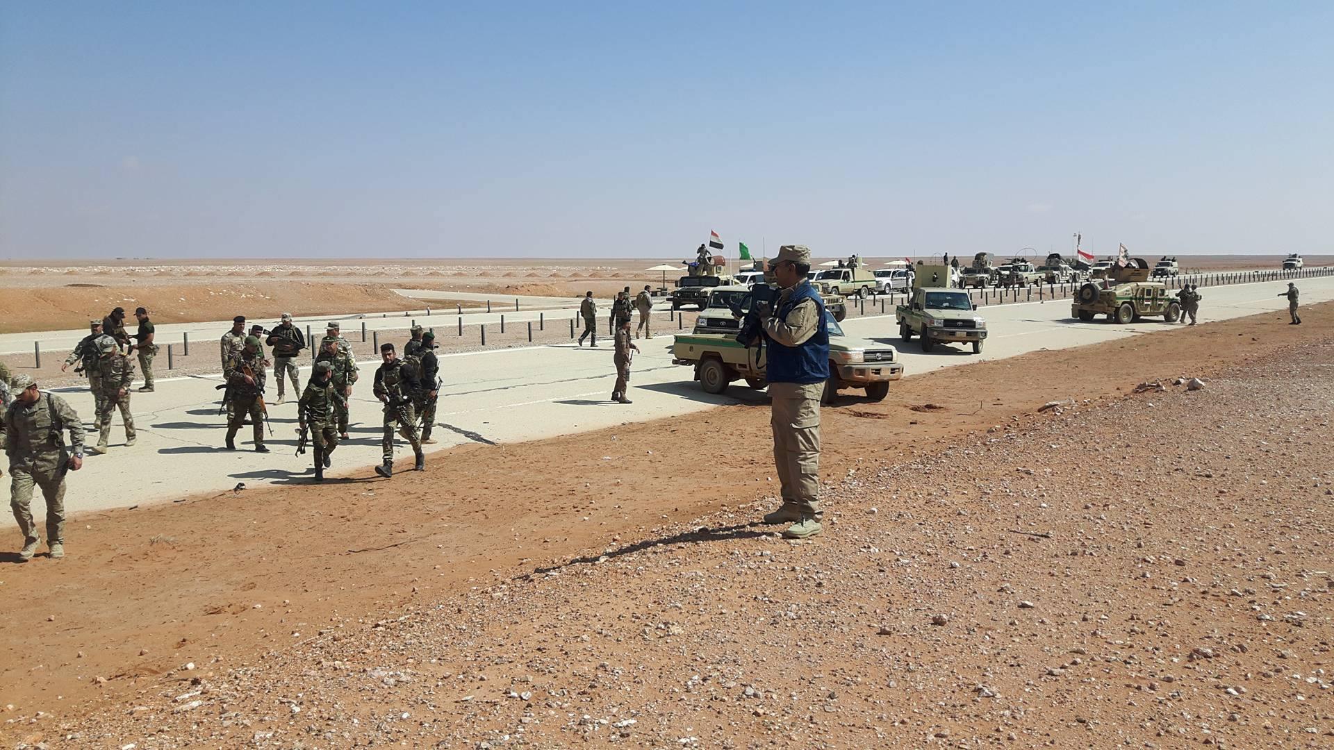 """صد هجوم لـ""""داعش"""" استهدف قوات مشتركة شمال منفذ الوليد غربي الانبار"""