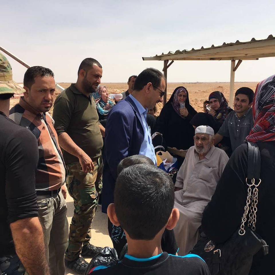 قائممقام الرطبة يعلن فرار 150 نازحا من مناطق سيطرة داعش بالأنبار
