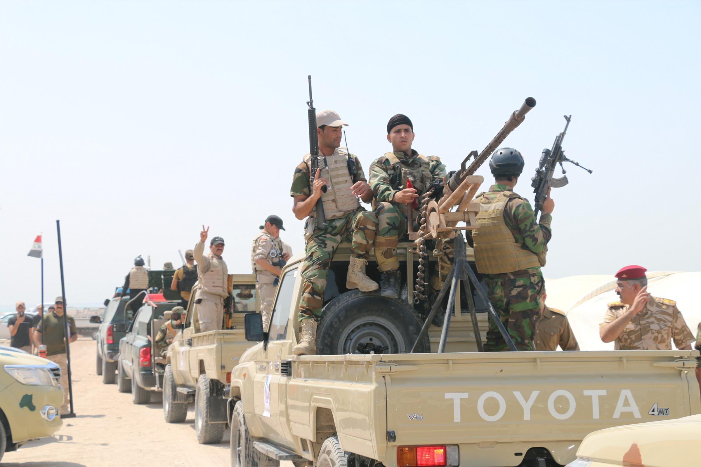 القوات الامنية تقتل المستللين الى منطقة الطاش جنوبي الرمادي