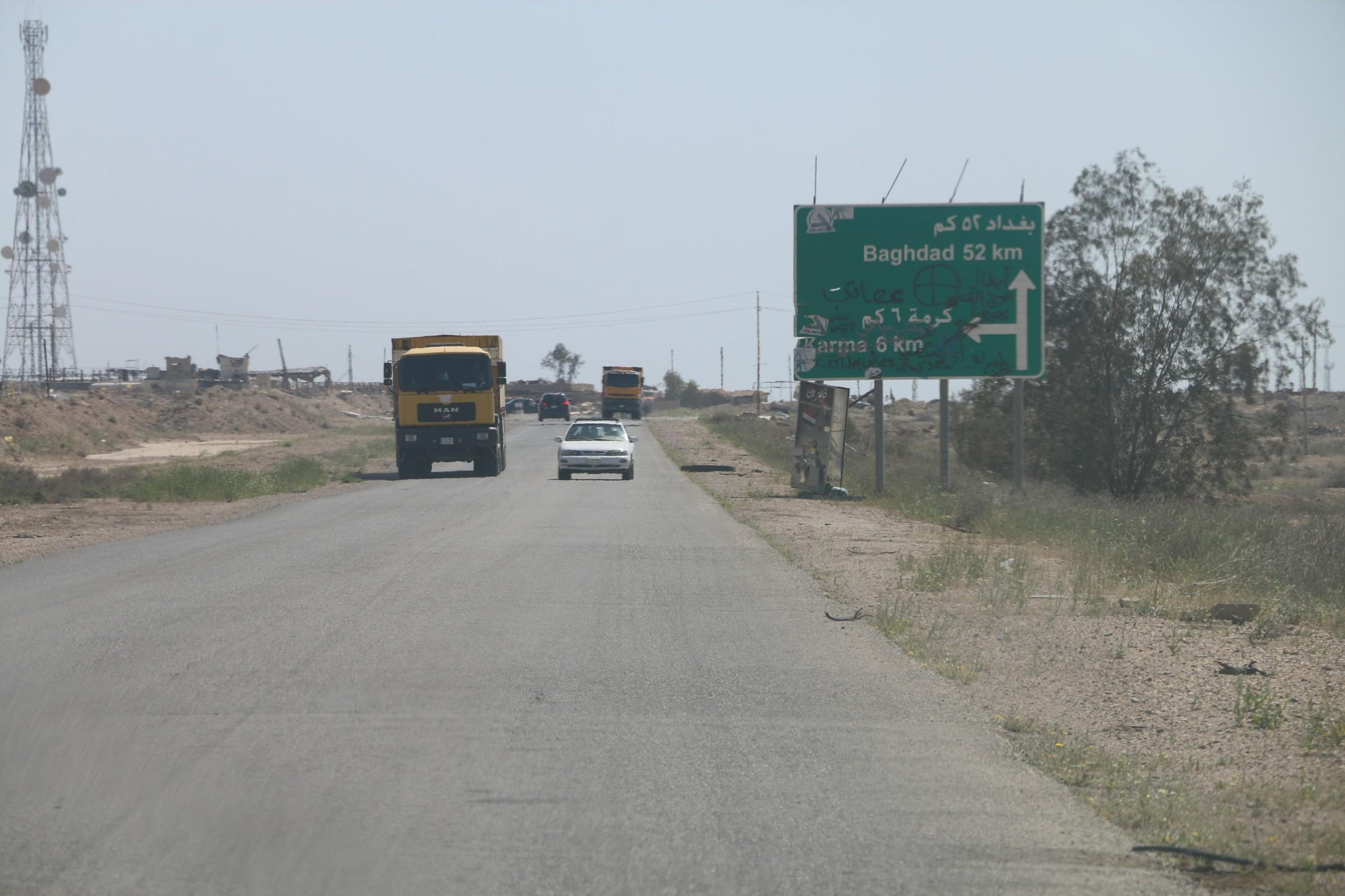المباشرة بإعادة تأهيل طريق بغداد – فلوجة القديم