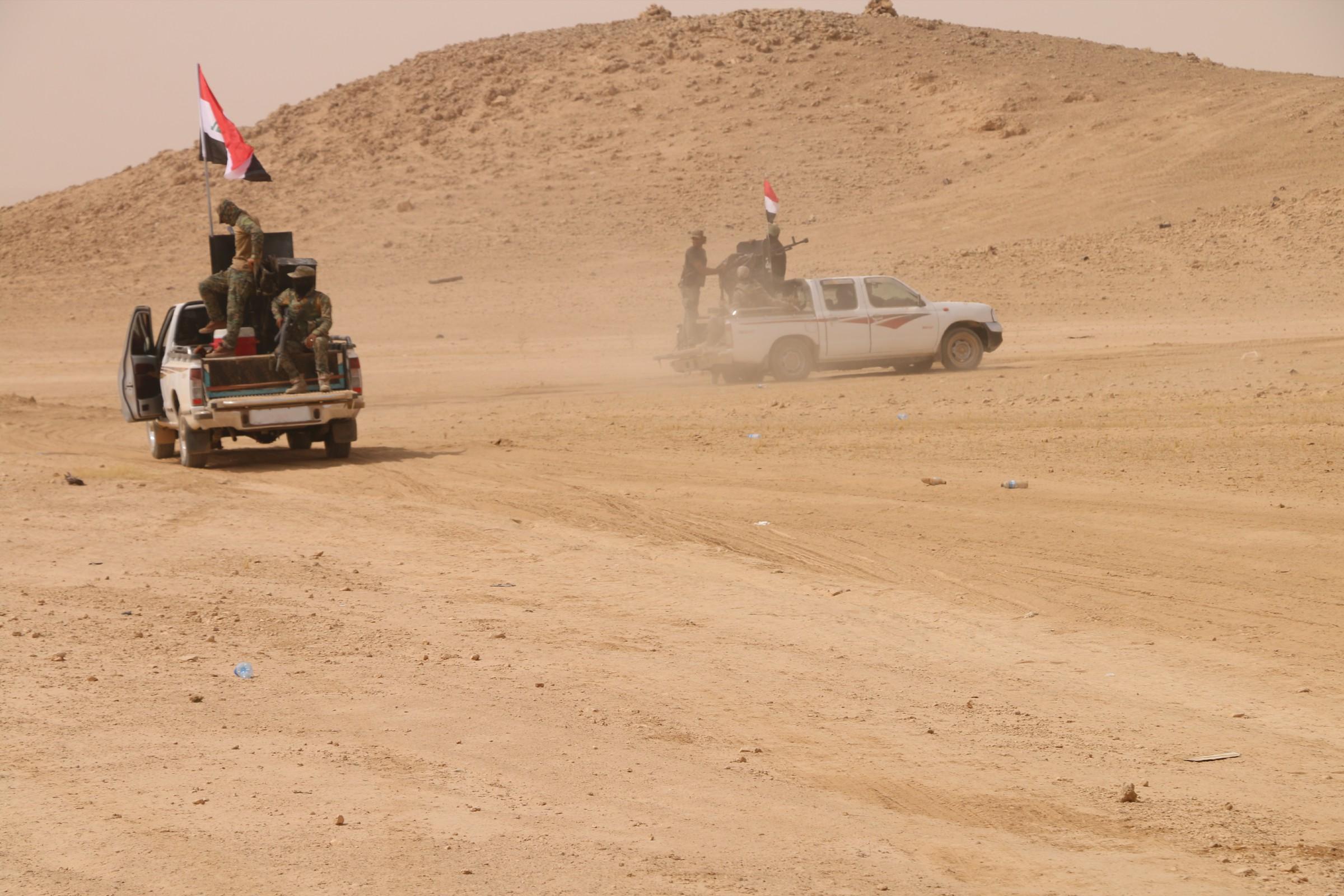القوات الامنية والعشائر تحرران حيين شمال شرقي عنة