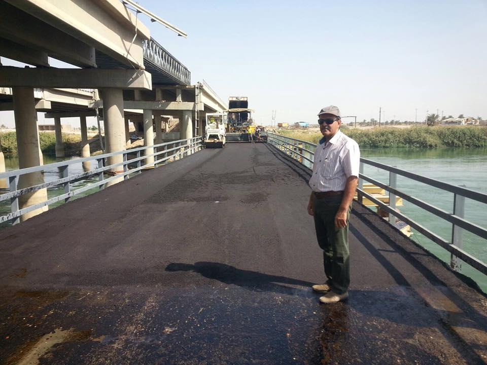 طرق الانبار تعلن إكمال تأهيل الجسر الحديدي شمال الرمادي