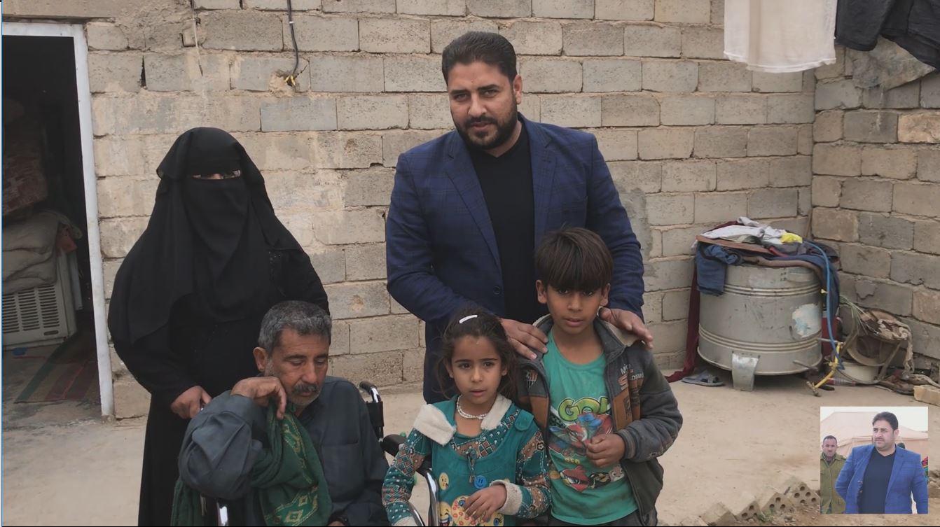 الهميم يستجيب لمناشدة عائلة ابوسيف في الفلوجة