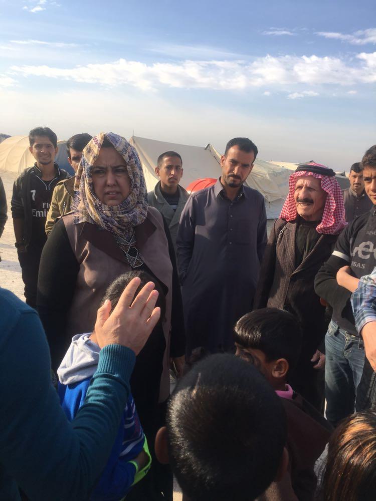 العكيدي: مخيم الاحسان يعاني الإهمال ونطالب بإعادة النازحين فيه الى القائم