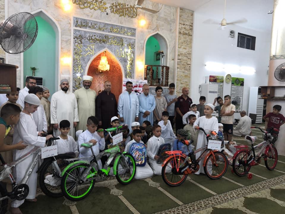 بالصور.. مسجد الكبيسي يقيم مسابقة للمحافظين على الصلاة