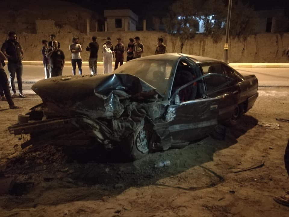 بالصور.. حادث مؤسف قرب الشيخ مسعود