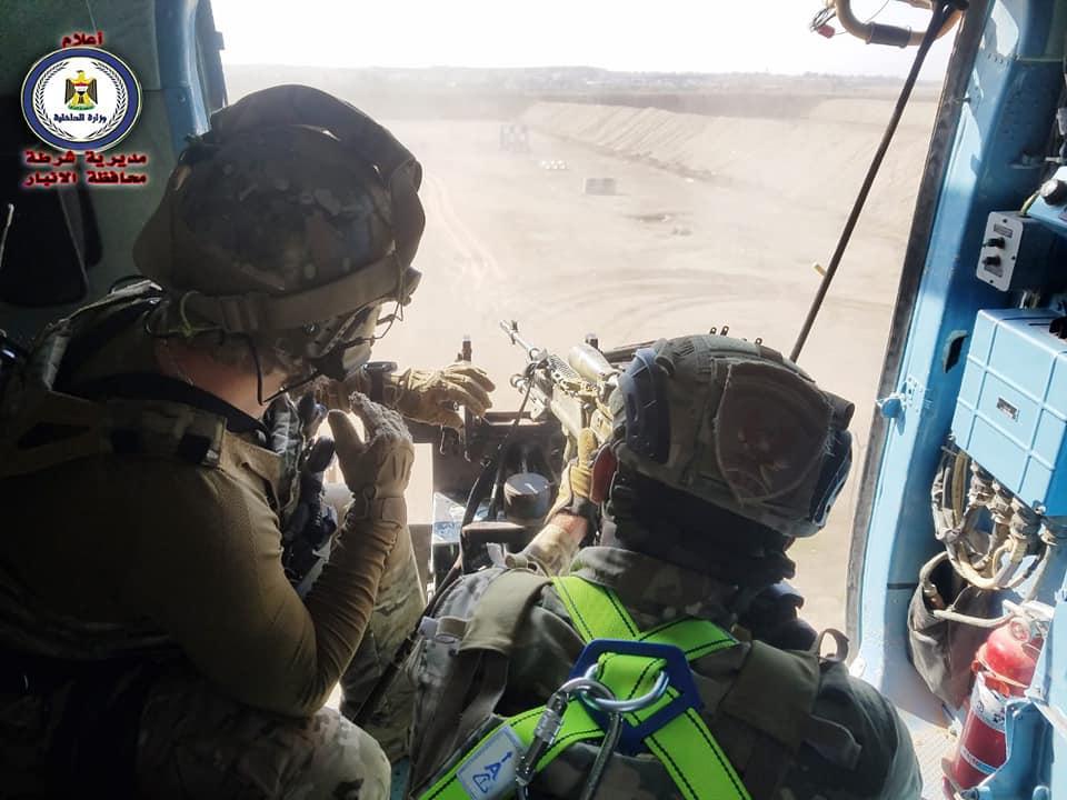 بالصور.. الفوج التكتيكي يقتنص الإرهابيين من الطائرات