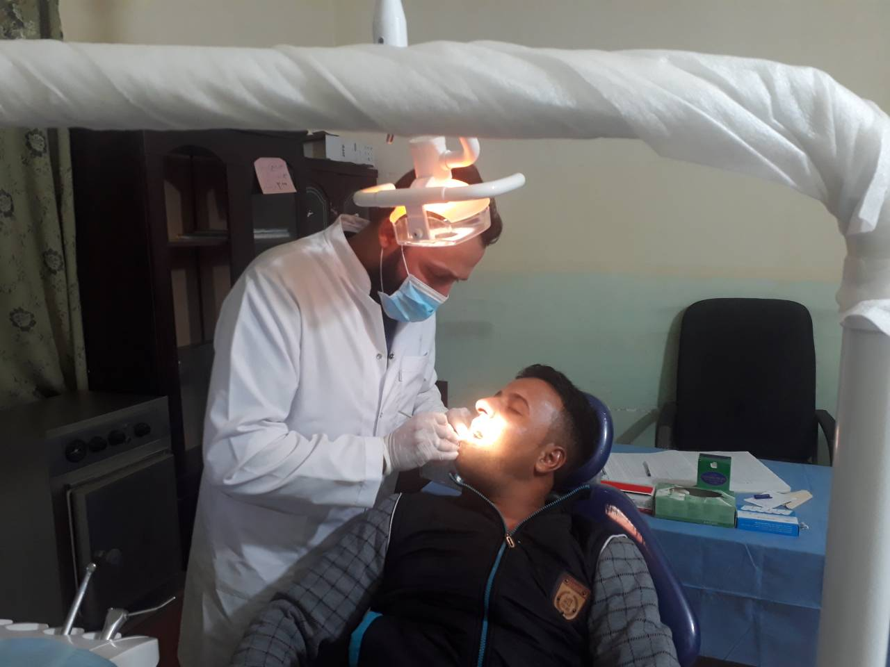 وحدة الاسنان تدخل خط الخدمة في مركز صحي النخيب