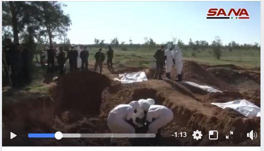 العثور على جثة أحد أبناء القائم بالمقابر الجماعية التي عثر عليها في سوريا