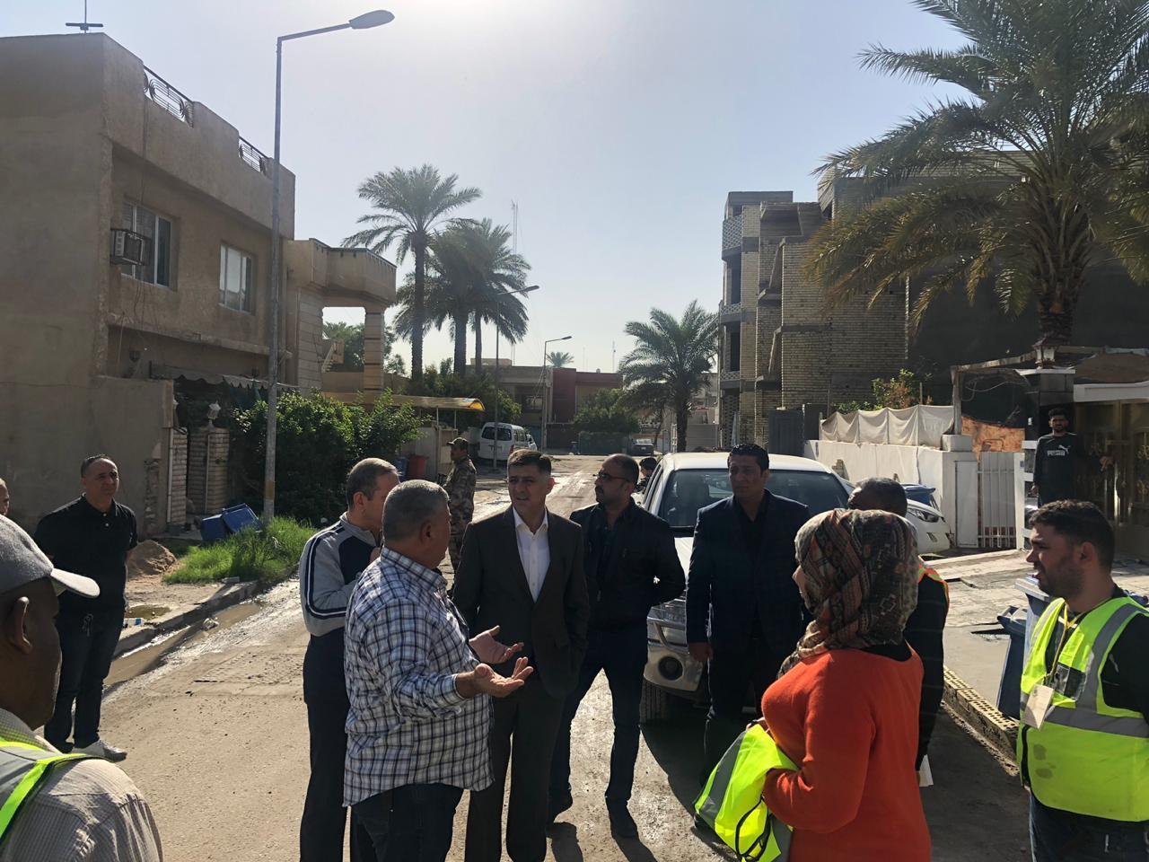 وزير الاتصالات يشرف شخصياً على ايصال خدمة الكيبل الضوئي لأحياء بغداد