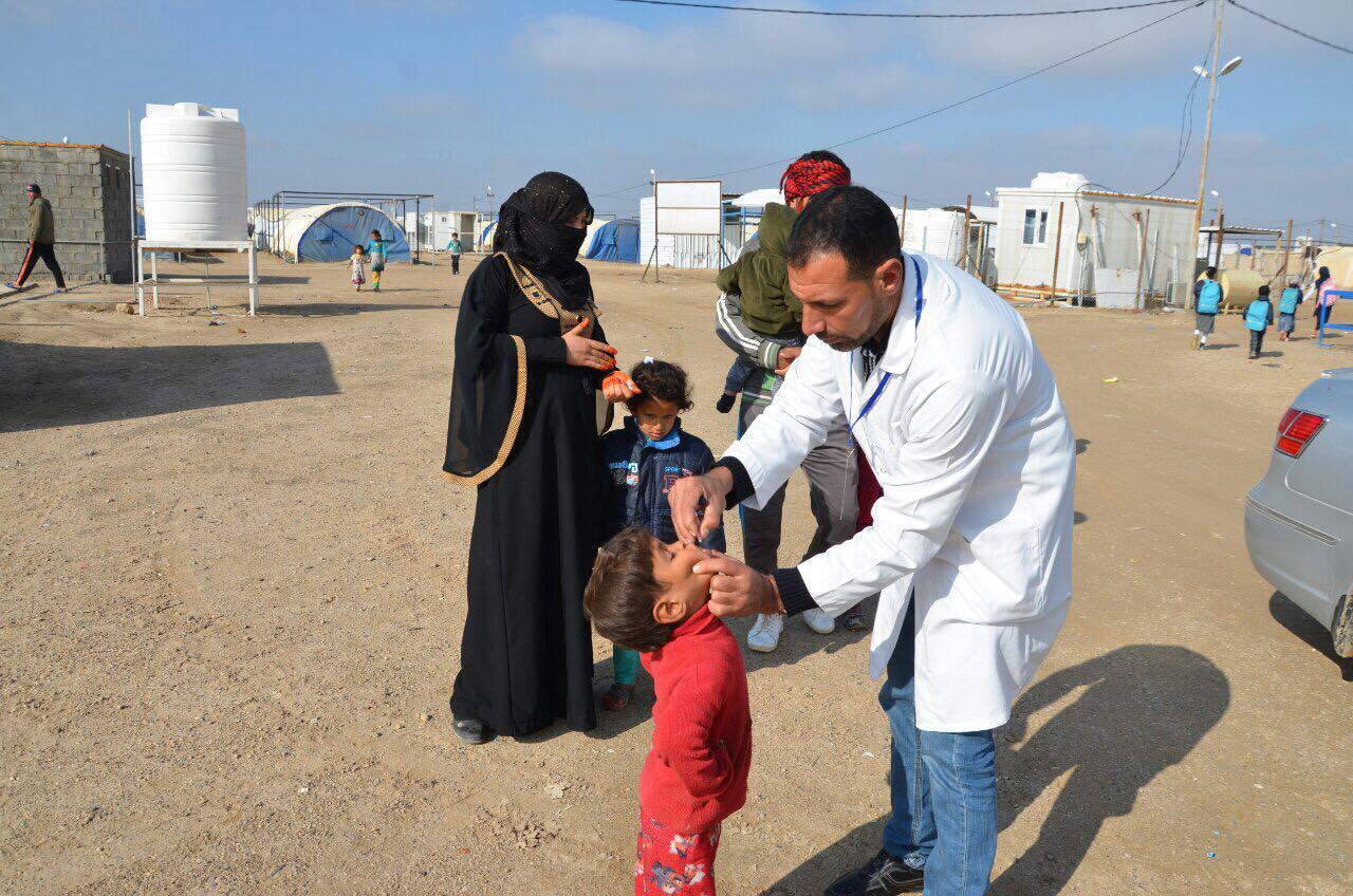الأنبار.. انطلاق الحملة الوطنية للقاح ضد شلل الأطفال في عامرية الصمود
