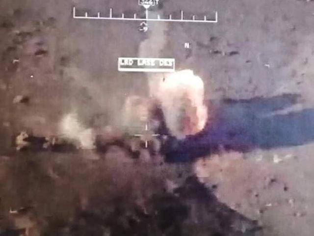 الفرقة السابعة: طيران التحالف يدمر عجلة مفخخة لداعش غربي الأنبار
