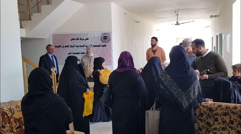 الجمعية الخيرية الإسلامية توزع مساعدات اغاثية على المتعففين بالفلوجة