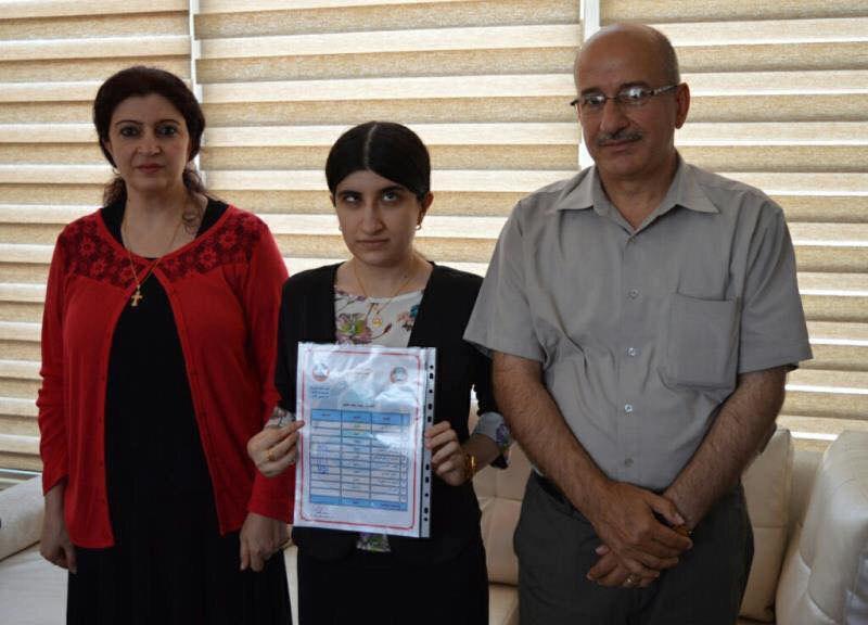 السهيل يوجه بتعيين مينا رغيد الأولى على جامعة الموصل