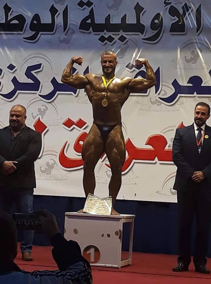 فوز لؤي الانباري في بطولة العراق لكمال الاجسام