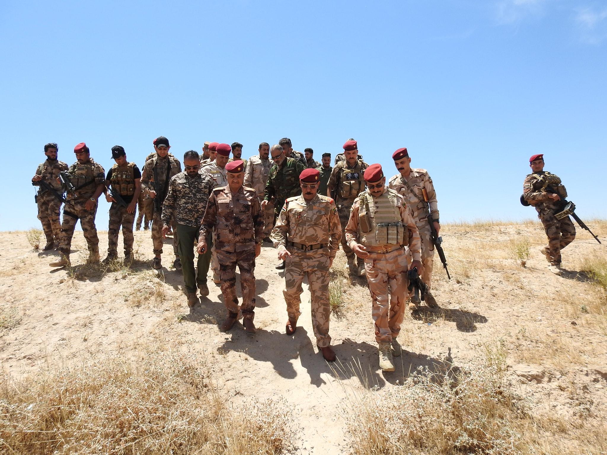 بالصور.. الزوبعي يتفقد قطعات الحشد وشرطة الطوارئ في عين الفرس وبحيرة الثرثار