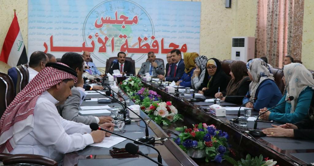 مجلس الأنبار يعقد جلسته الثامنة لمناقشة الواقع الامني والخدمي والمنافذ الحدودية