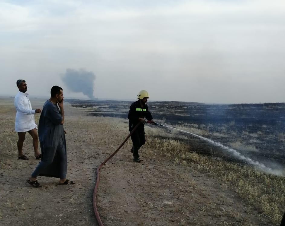 الانبار.. اندلاع حريق كبير في اراضي زراعية غربي المحافظة