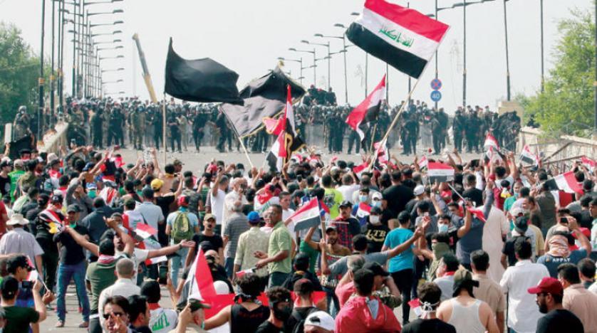 إصابة ضابط وعنصر أمن بهجوم بقنبلة قرب ساحة التظاهرات ببغداد