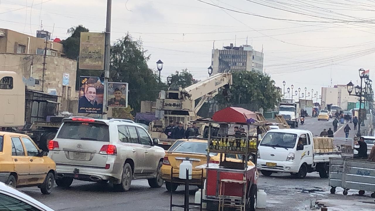 بالصور … جسر الاحرار في بغداد الان