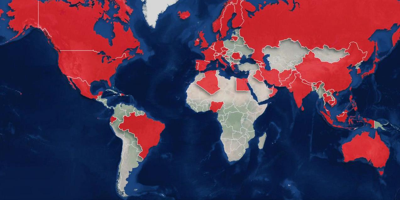 """""""كورونا"""" الثلاثاء: 3168 وفاة و92 ألفا و870 إصابة في 80 دولة"""