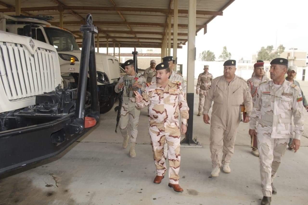 نائب قائد فرقة المشاة الخامسة يزور امرية التموين والنقل