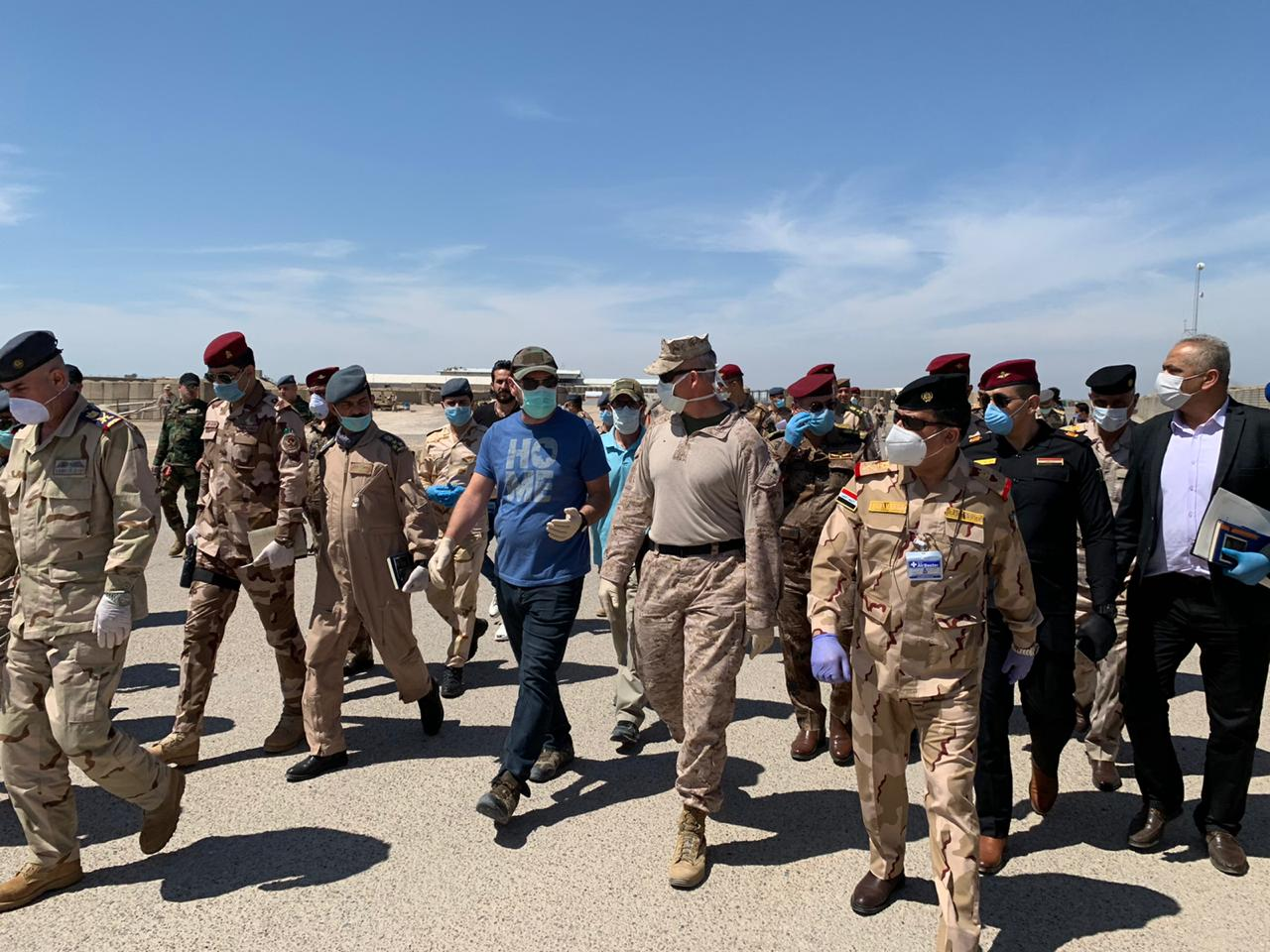 القوات الامريكية تسلم موقعا لها في قاعدة الحبانية للجيش العراقي