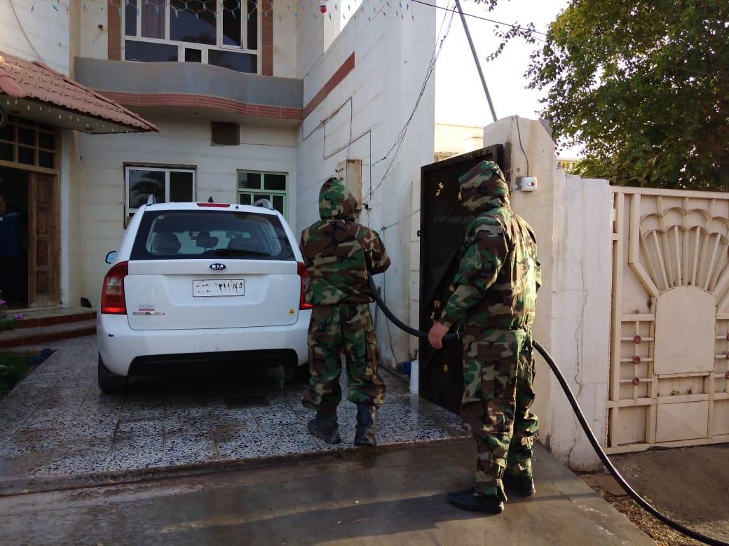 دفاع مدني الانبار يقوم بحملة تعفير في الرمادي